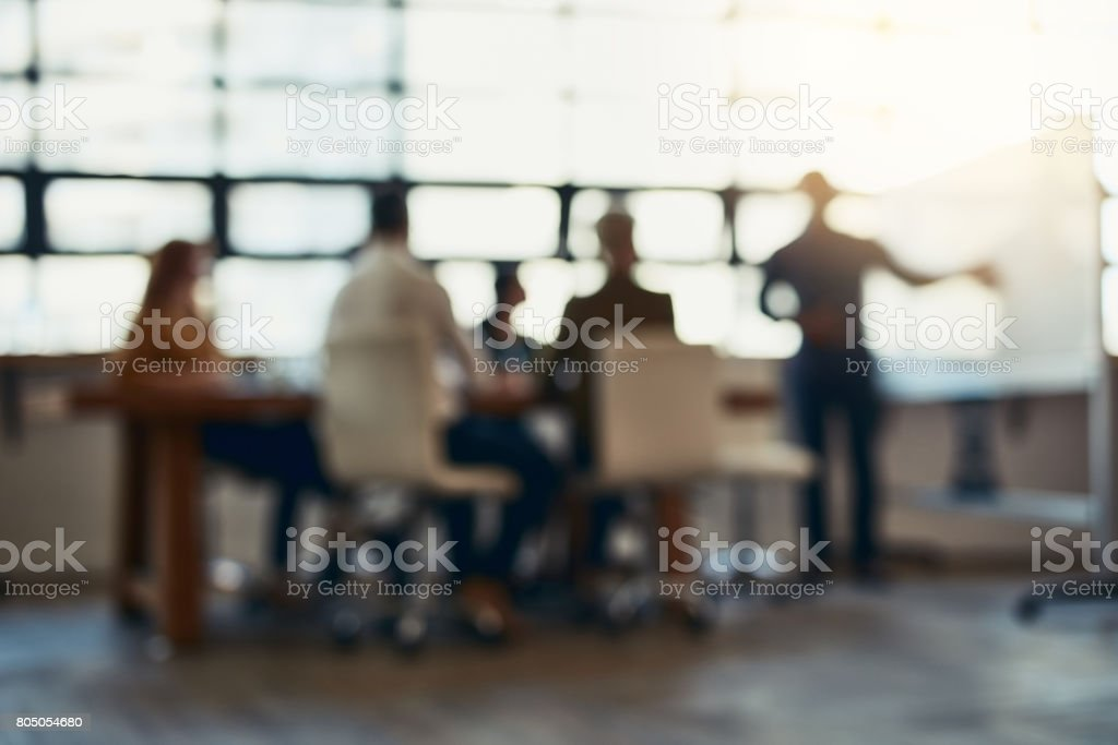 Meeting in session stock photo