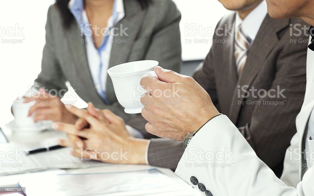 Meeting in the boardroom royalty-free stock photo