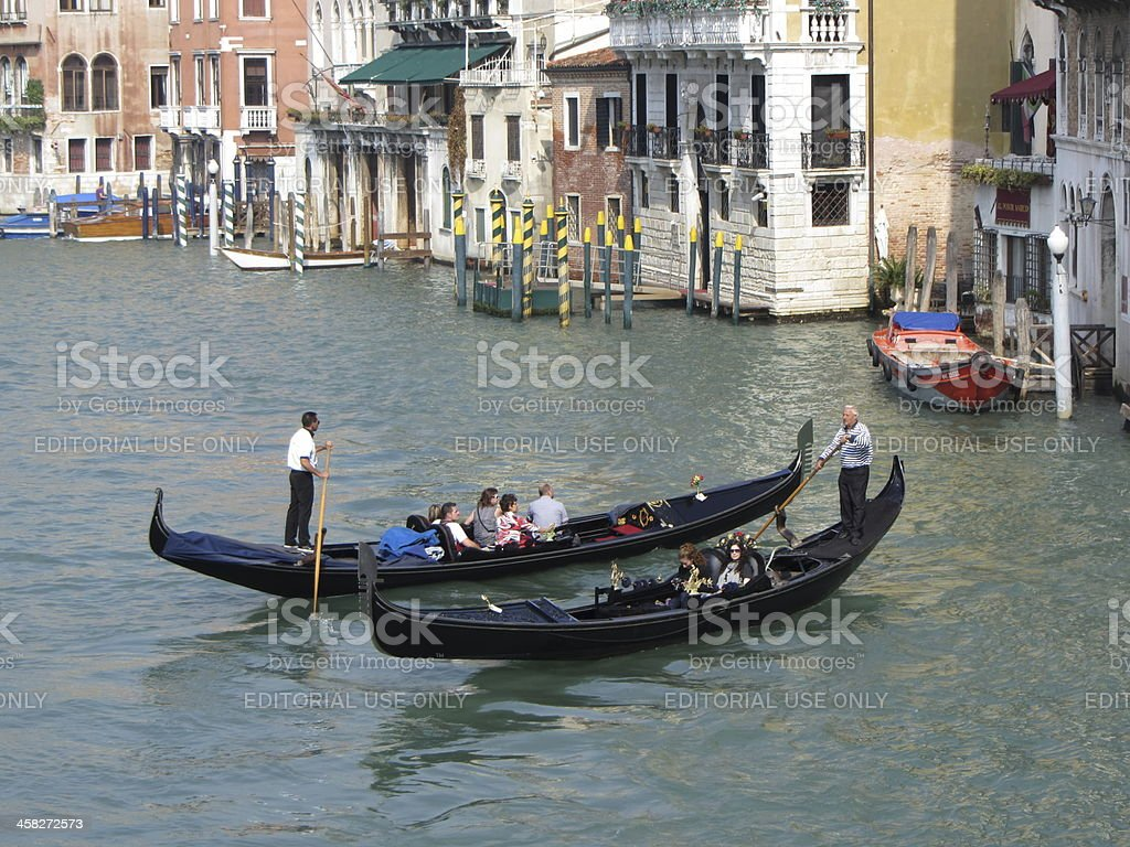 Meeting in the Grand Canal royalty-free stock photo