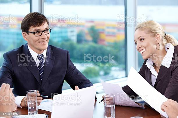 Meeting In The Office Stock Photo - Download Image Now