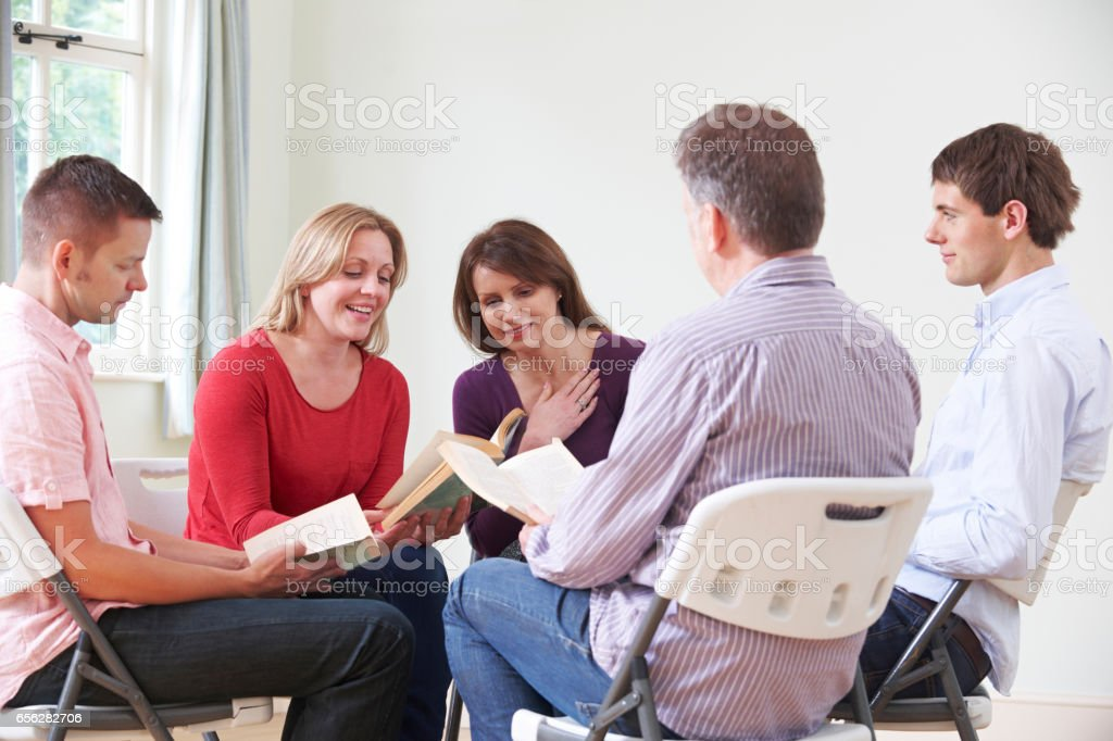 Meeting Of Book Reading Group stock photo