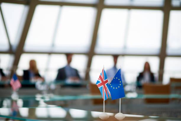 Meeting of European Union members - foto stock