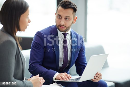 istock Meeting of foreign colleagues 968961682