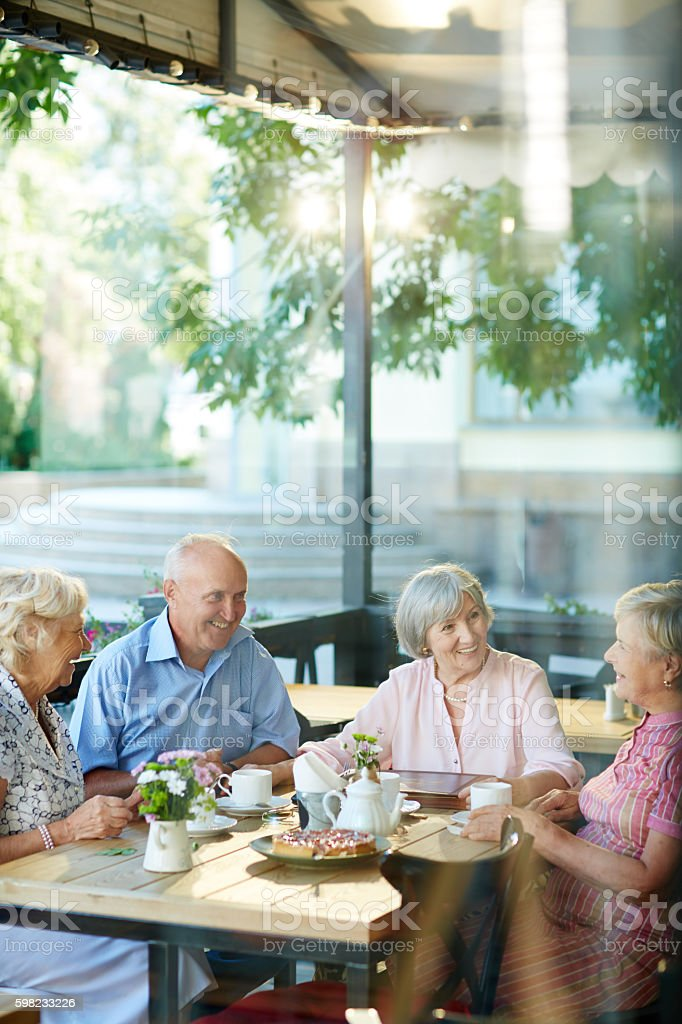 Reunião de amigos foto royalty-free