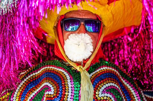 Meeting Of Maracatu Rural At The Carnival Of Pernambuco Northeast Brazil Stock Photo - Download Image Now