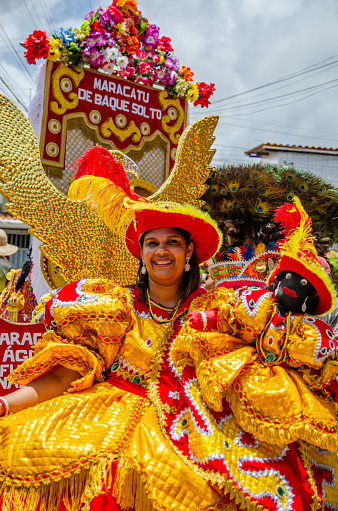 Meeting Of Maracatu Rural At The Carnival Of Pernambuco Northeast Brazil Stock Photo - Download Image Now