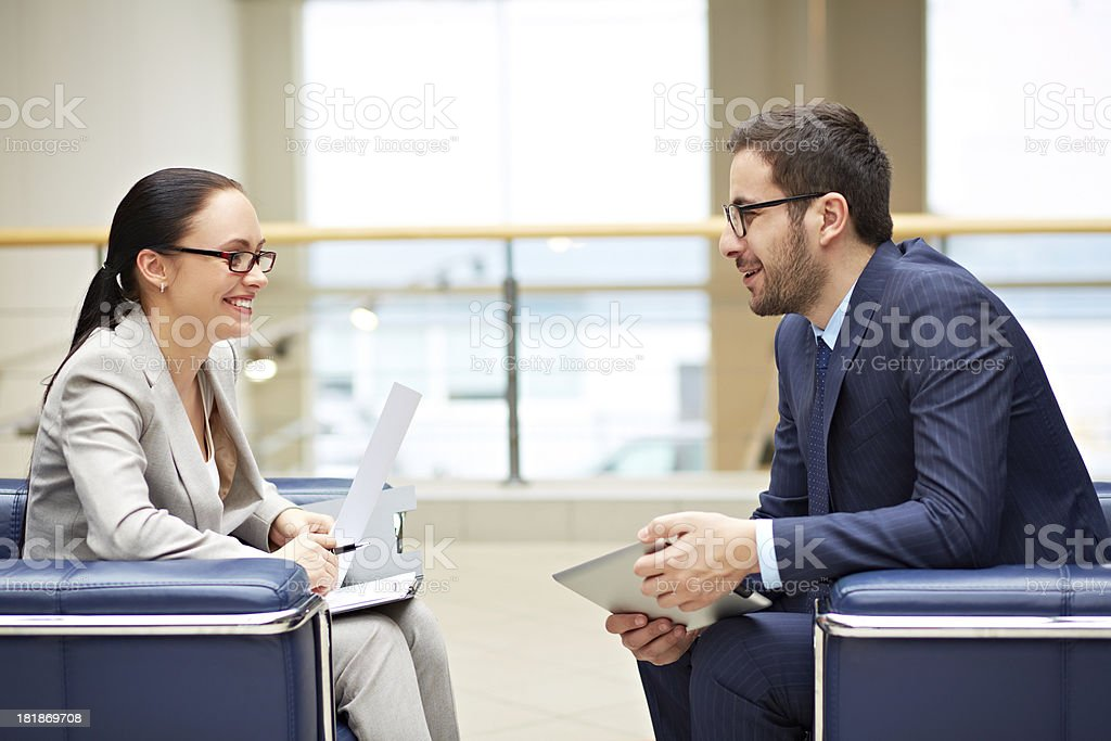 Meeting of partners royalty-free stock photo