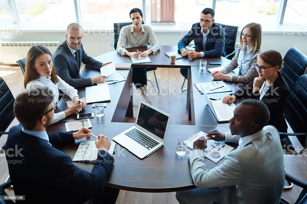 Meeting of shareholders royalty-free stock photo