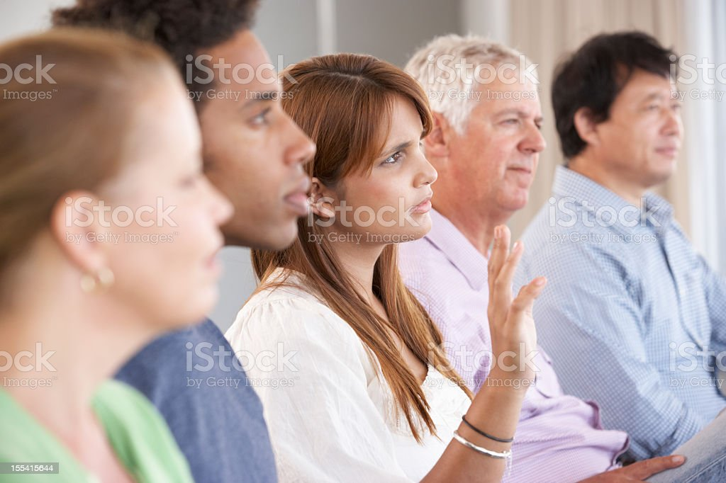 Meeting Of Support Group stock photo