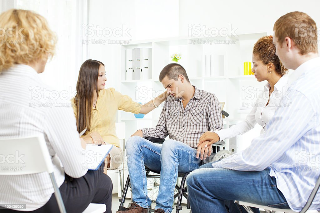 Meeting of Support Group. royalty-free stock photo