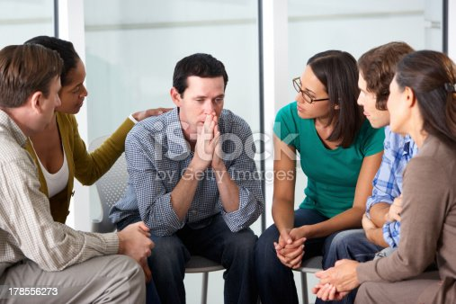 istock Meeting Of Support Group 178556273