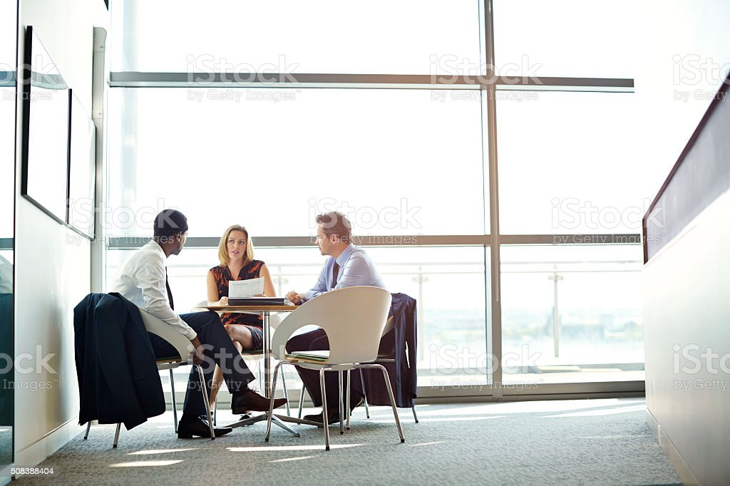 Meeting of the minds stock photo