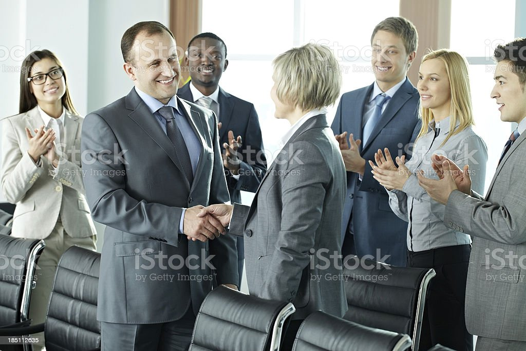 Meeting partners royalty-free stock photo
