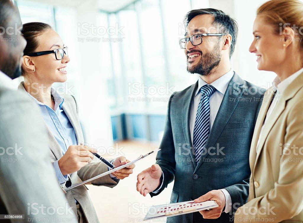 Meeting partners stock photo
