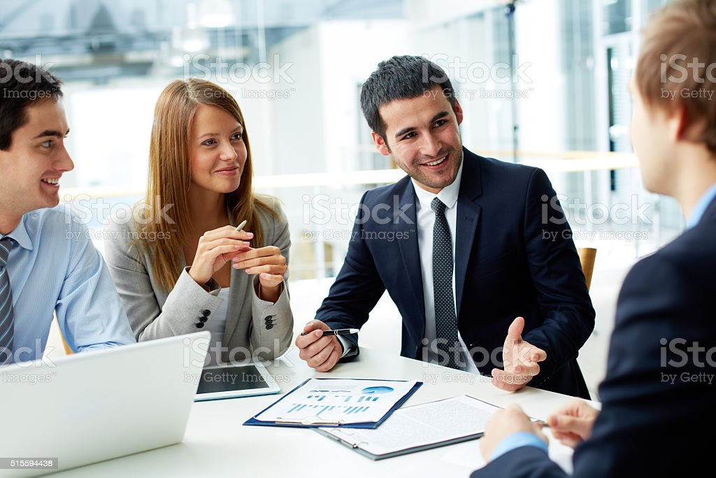 Meeting stock photo