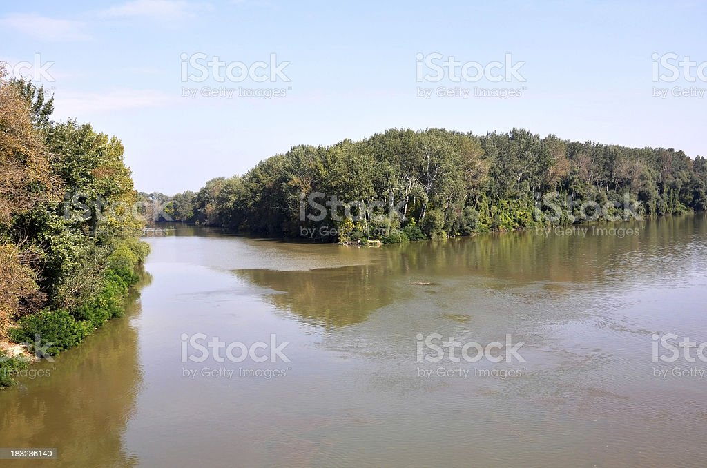 meeting point of two rivers, Tokaj, Hungary royalty-free stock photo