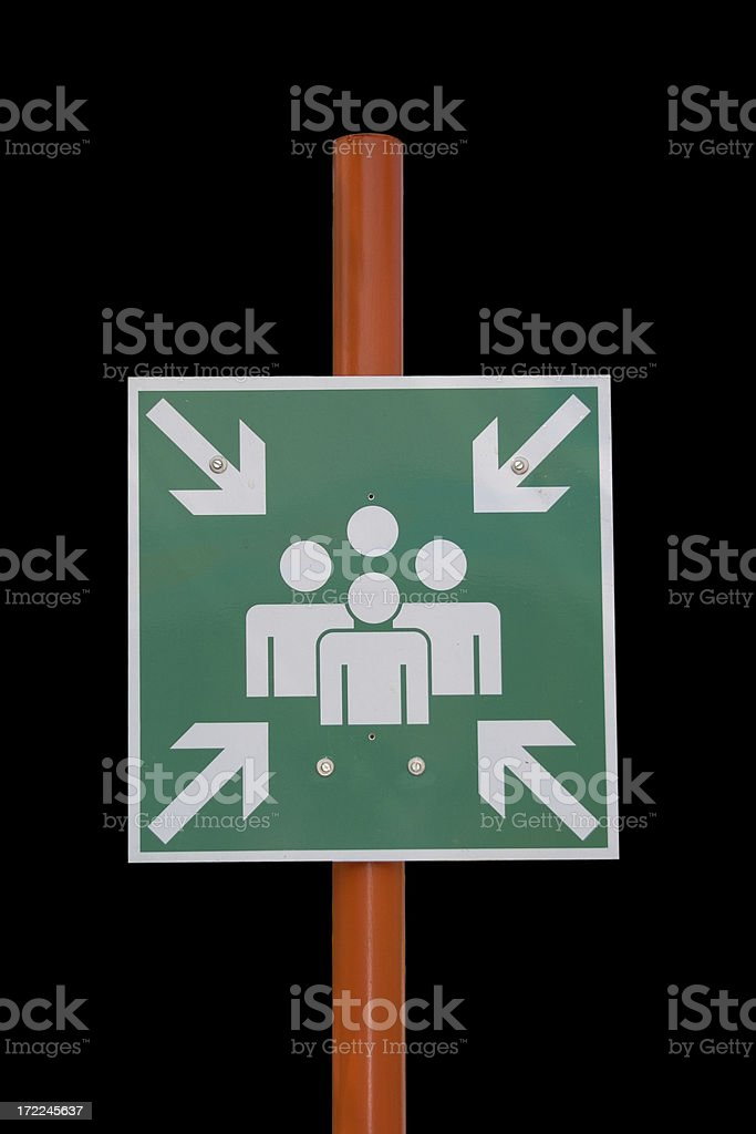 Meeting point royalty-free stock photo