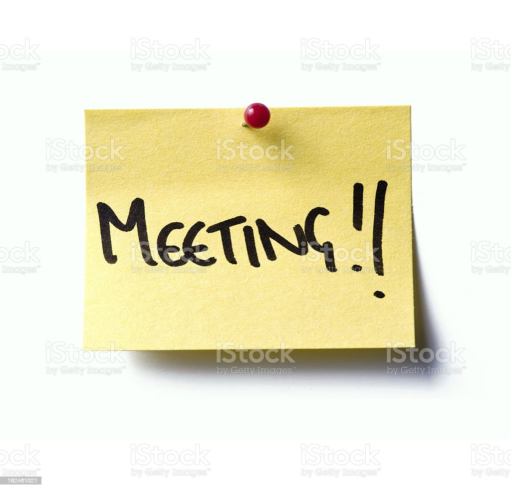 meeting! post-it royalty-free stock photo