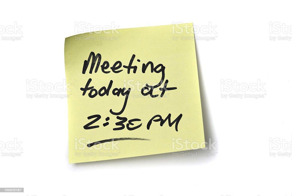 Meeting Reminder royalty-free stock photo