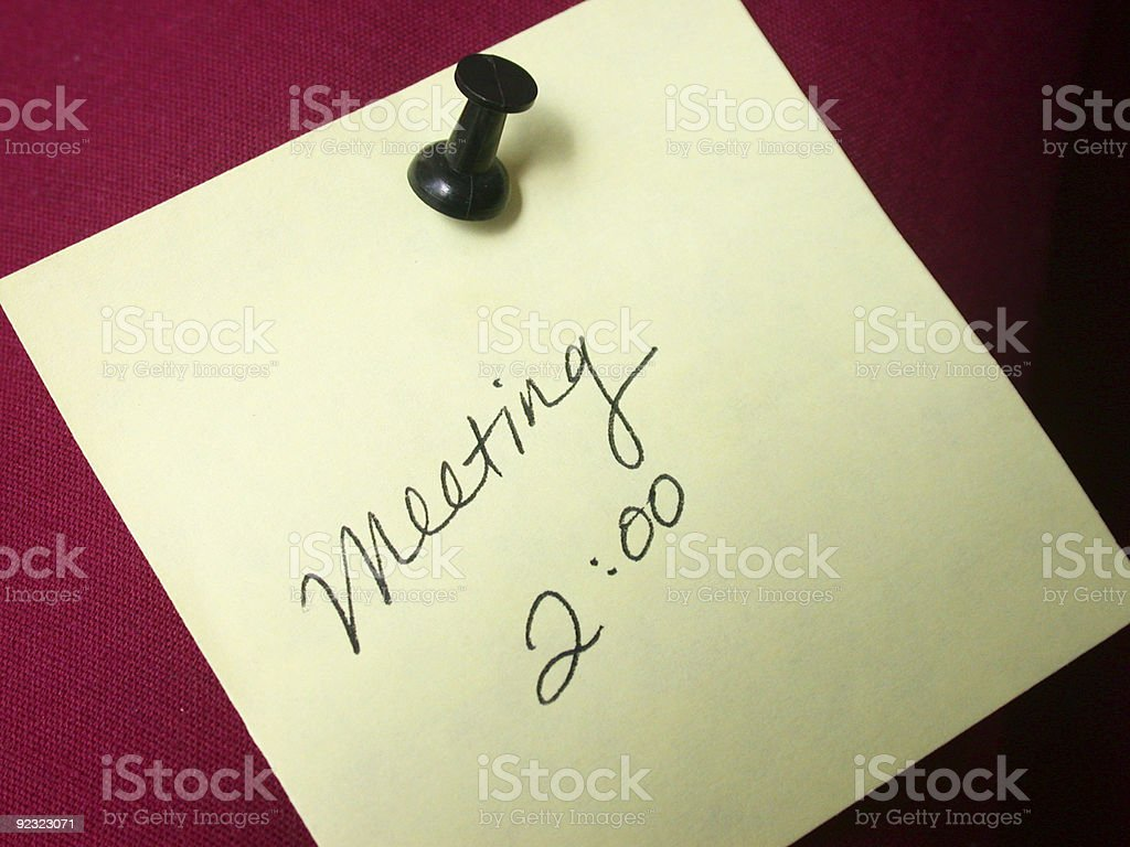 meeting reminder royalty-free stock photo