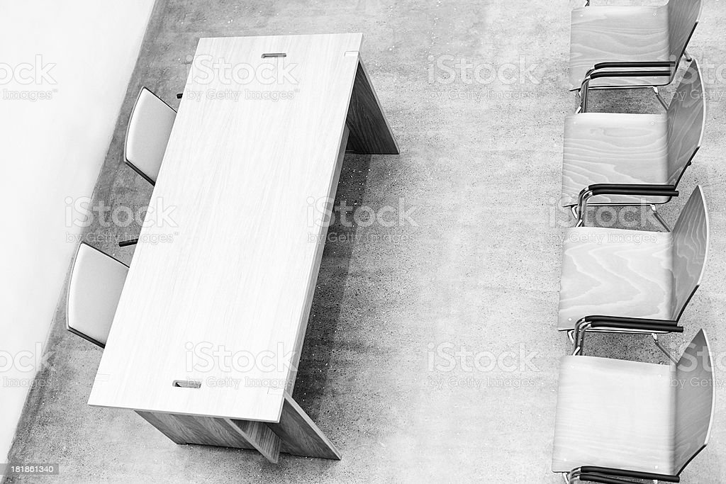 Meeting Room. Black and White royalty-free stock photo