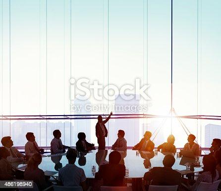 istock Meeting Room Business Meeting Leadership COncept 486198940
