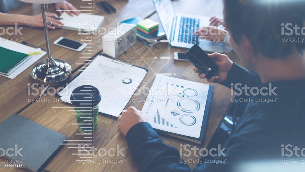 Meeting-Raum-Konzept, Business-Menschen-Diskussion – Foto