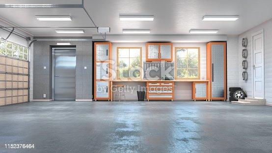 Meeting room interior. 3d illustration