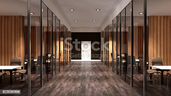 istock Meeting room. Interior of the modern office in the highlands. 623095998