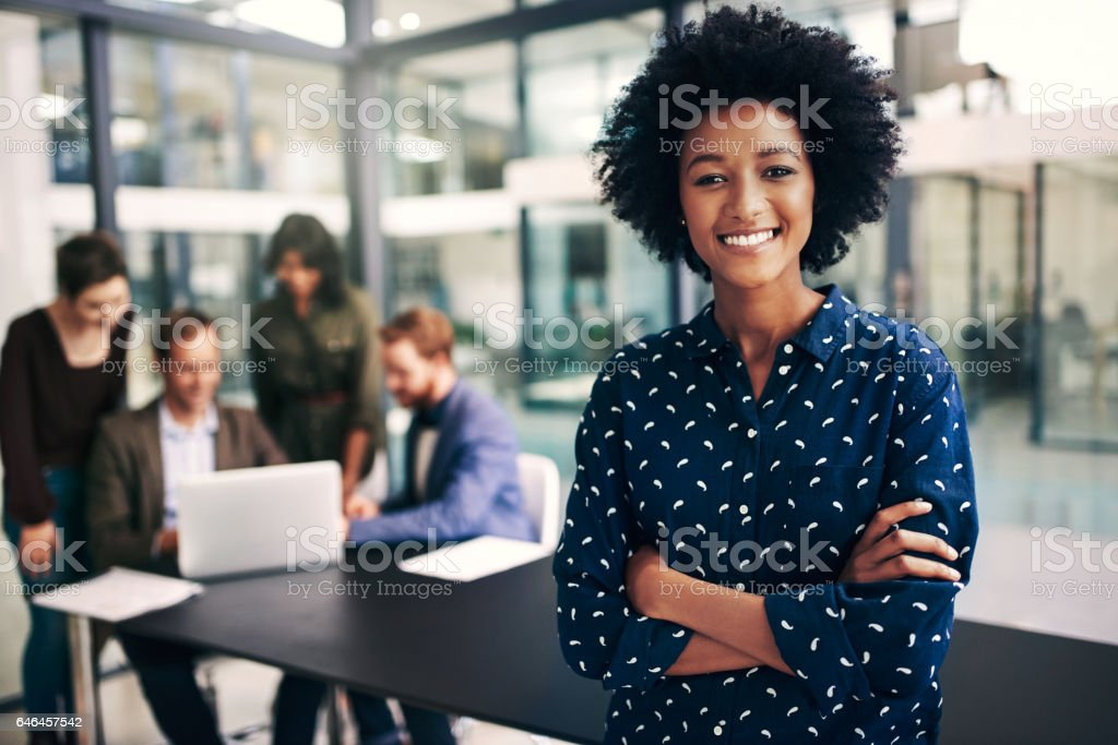 Meeting status? 100% productive stock photo