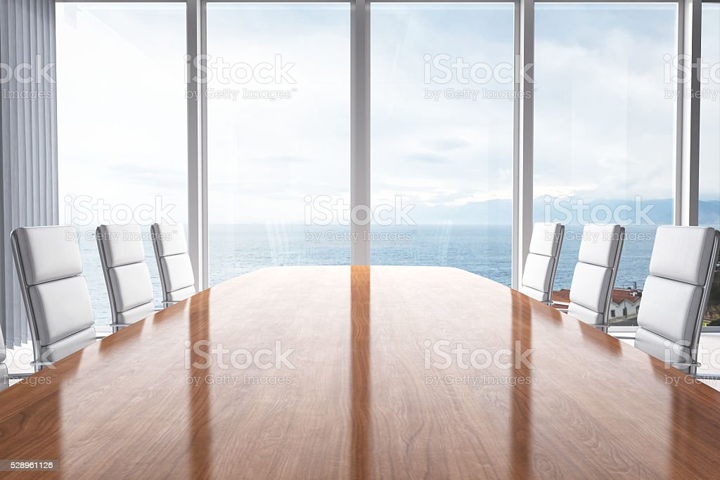 Meeting Table With Beautiful View stock photo