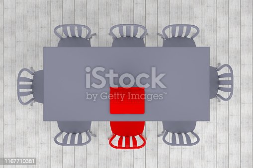 1064053478 istock photo Meeting table with chairs, minimal concept 1167710381