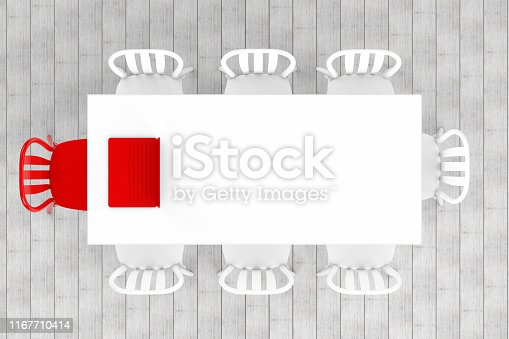 1064053478 istock photo Meeting table with chairs, minimal concept 1167710414