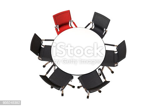 1064053478 istock photo Meeting table with chairs 935245352