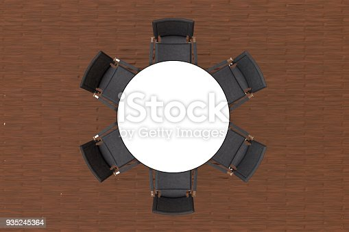 1064053478 istock photo Meeting table with chairs 935245364