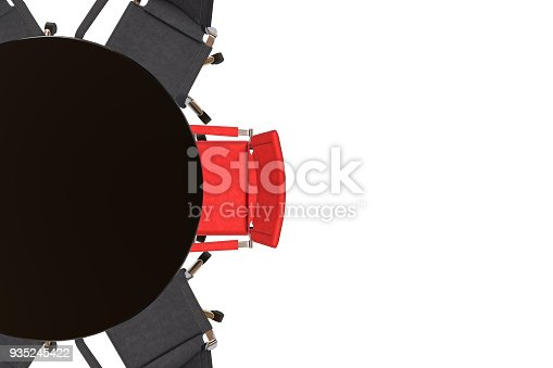 1064053478 istock photo Meeting table with chairs 935245422