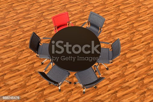 1064053478 istock photo Meeting table with chairs 935245476