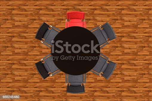 1064053478 istock photo Meeting table with chairs 935245480
