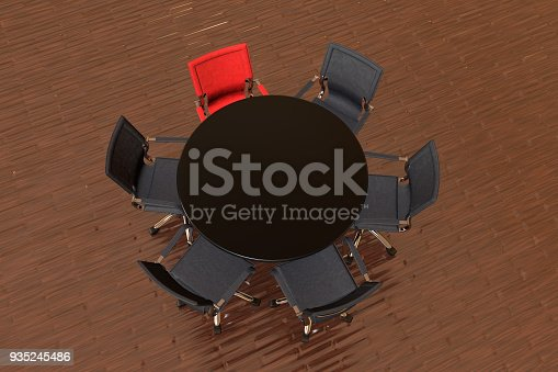 1064053478 istock photo Meeting table with chairs 935245486