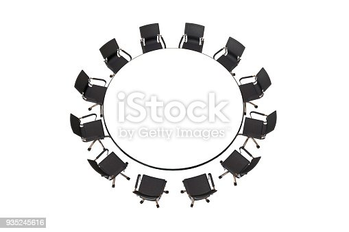1064053478 istock photo Meeting table with chairs 935245616
