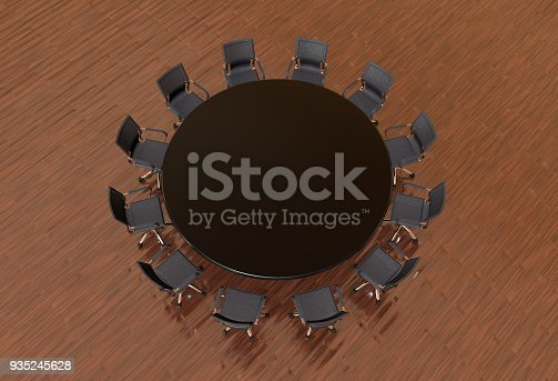 1064053478 istock photo Meeting table with chairs 935245628