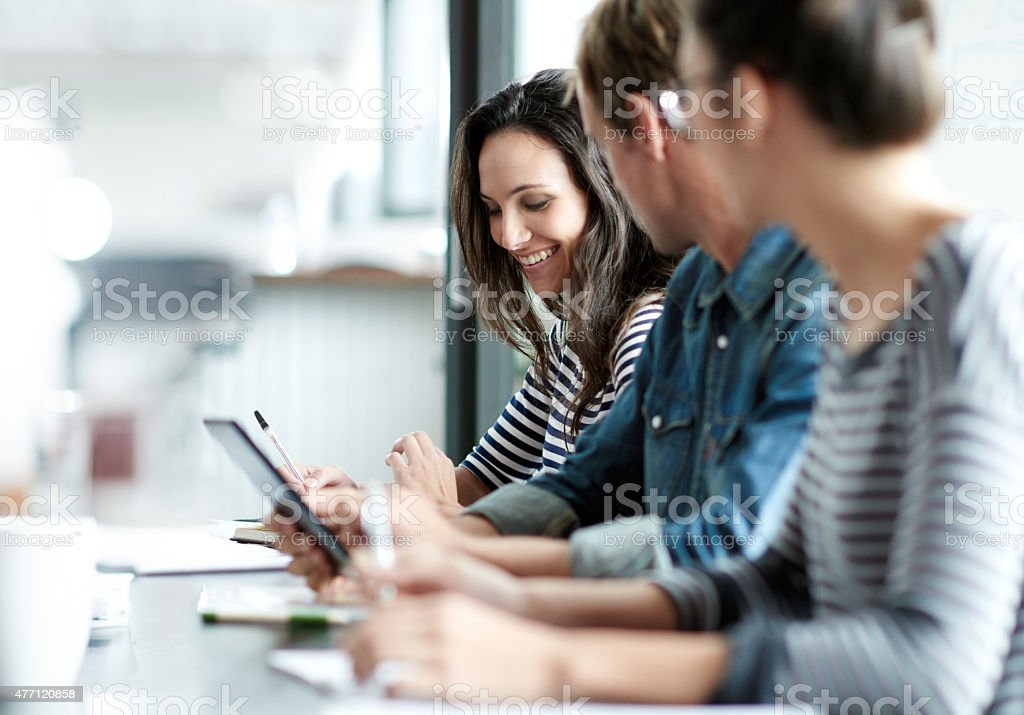 Meeting Ihre Ziele durch gute Strategien zu entwickeln Lizenzfreies stock-foto