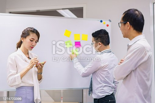 1144568493 istock photo Meeting together in the morning, Agile concept. 1214720399