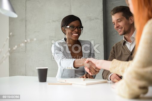 istock Meeting with financial advisor 691949286