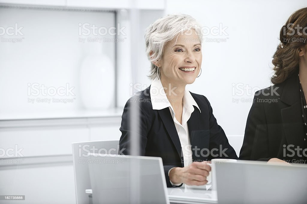 Meeting with mature business woman royalty-free stock photo