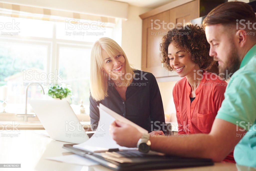 meeting with the financial advisor stock photo