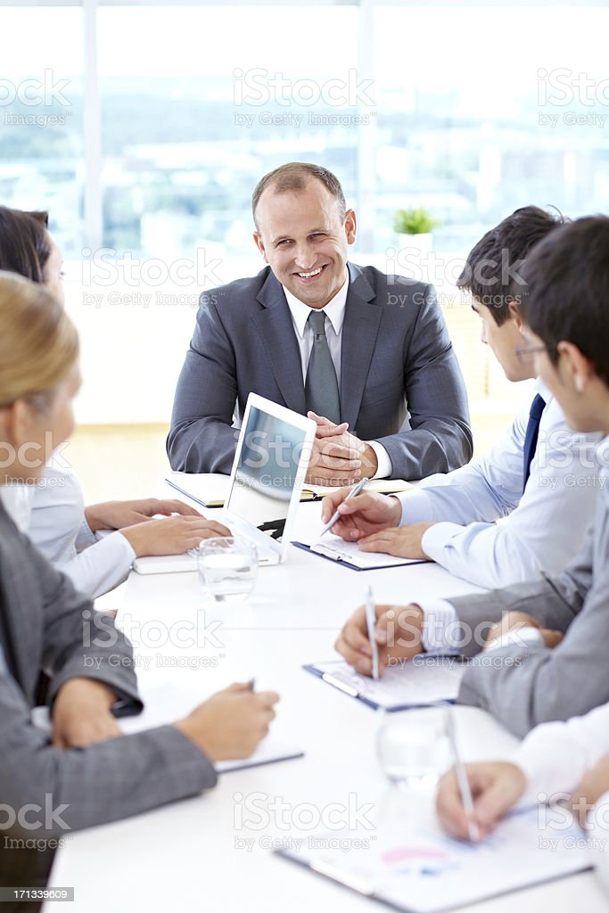 Meeting with the leader royalty-free stock photo