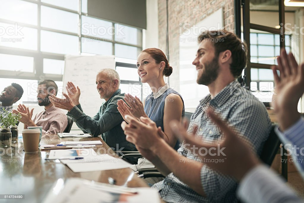 Meetings are empowering stock photo