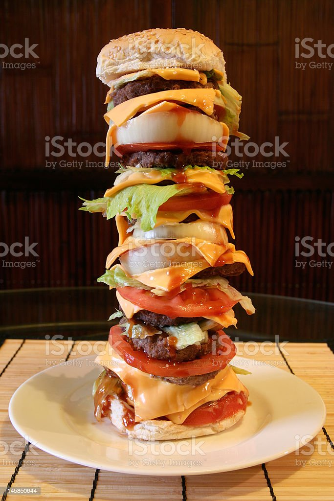 Mega Beef Burger royalty-free stock photo