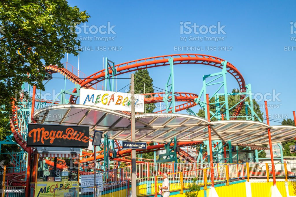 Mega blitz roller coaster - Royalty-free Amusement Park Stock Photo